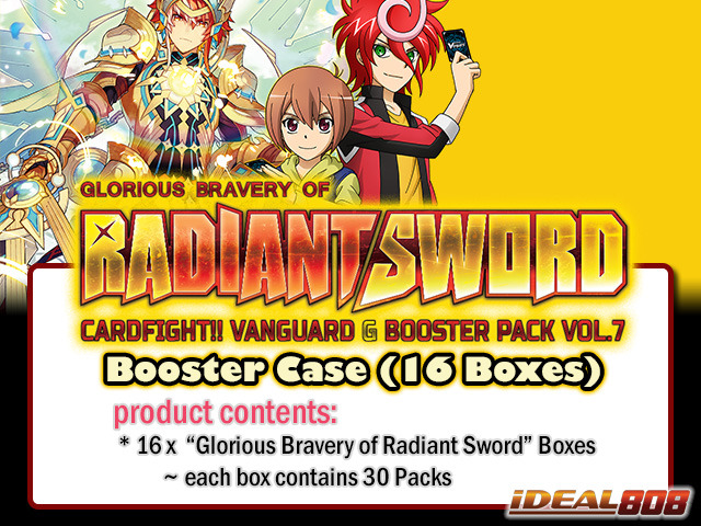 CFV-G-BT07 Glorious Bravery of Radiant Sword (English) Cardfight Vanguard G-Booster  Case (16 Boxes)