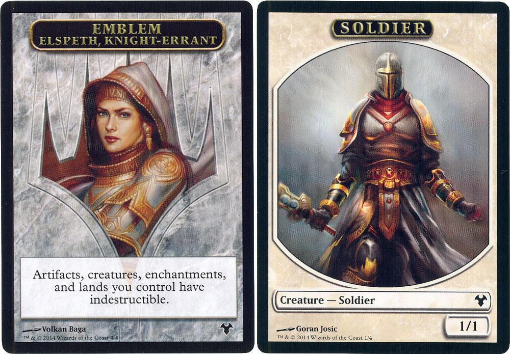 MTG Modern Event Deck x 1 Emblem Elspeth, Knight-Errant ...