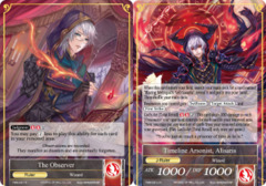 The Observer // Timeline Arsonist, Alisaris [TMS-031 UR (Uber Rare Foil Ruler)] English