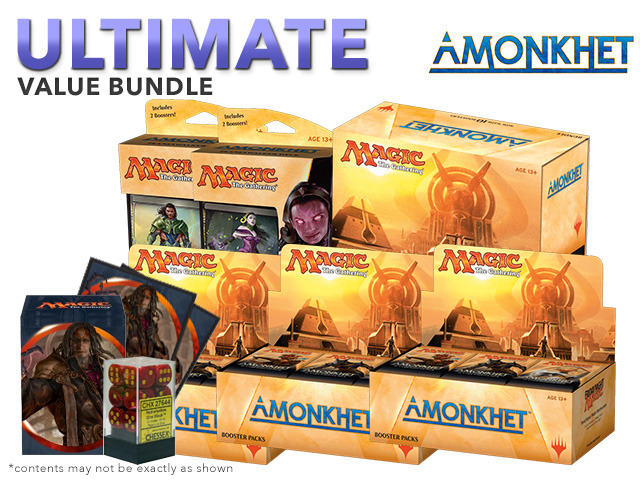 MTGAKH Ultimate Pack - Get x3 Amonkhet Booster Box; x1 Bundle; & 1 Planeswalker Deck Set + FREE Bonus