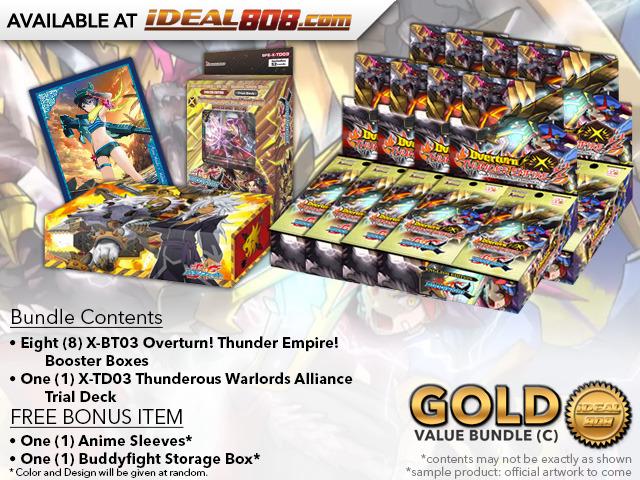 FC-Buddyfight X-BT03 Bundle (C) Silver - Get x8 Overturn! Thunder Empire! Booster Box & 1x X-TD03 Trial Deck * Ships Oct.20