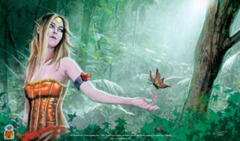Nested Egg Gaming Printed Playmat - The Enchantress' Forest on Ideal808