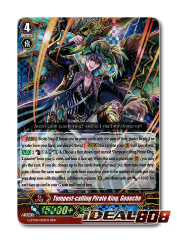 Tempest-calling Pirate King, Goauche - G-BT08/009EN - RRR