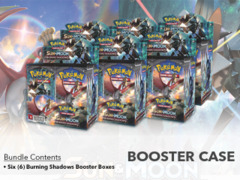 SM Sun & Moon - Burning Shadows (SM03) Pokemon Booster  Case (6 Boxes) * PRE-ORDER Ships Aug.4