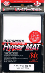 KMC Card Barrier Hyper Mat (80ct) Large Sleeves - White