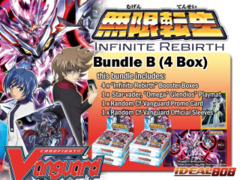 Cardfight Vanguard BT15 Bundle (B) - Get x4 Infinite Rebirth Booster Box + FREE Bonus (Playmat & Sleeves) on Ideal808