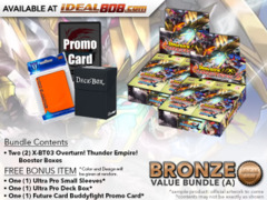 FC-Buddyfight X-BT03 Bundle (A) Bronze - Get x2 Overturn! Thunder Empire! Booster Box + FREE Bonus Items * Ships Oct.20