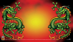 Nested Egg Gaming Printed Playmat - Double Dragon Red (Limited Edition) on Ideal808