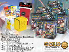 Pokemon SM03 Bundle (B) Gold - Get x4 Burning Shadows Booster Box + FREE Bonus