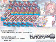 Cardfight Vanguard G-CB05 Bundle (D) Platinum - Get x12 Prismatic Divas Booster Box + FREE Bonus * PRE-ORDER Ships Jul.21