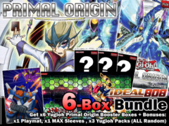 Yugioh PRIO Bundle (C) - Get x6 Primal Origin Booster Boxes Plus Bonus (Playmat, Sleeves, Packs) * Pre-Order Ships May 16, 2014 on Ideal808