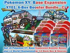 Pokemon XY01 Bundle (C) - Get x6 XY Base Set Booster Box plus x1 World Championship 2013 Double Deck Box & Sleeves on Ideal808