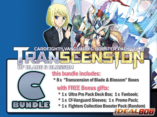 Cardfight Vanguard G-BT06 Bundle (C) - Get x8 Transcension of Blade & Blossom Booster Box + FREE Bonuses