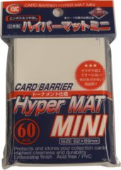 KMC Card Barrier Hyper Mat (60ct) Small Sleeves - White