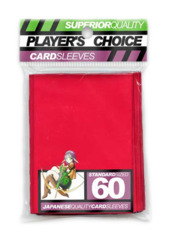 Player's Choice Standard Card Sleeves - Red