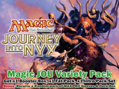 Magic Journey Into Nyx Variety Pack - Get x1 JOU Box, x1 JOU Fat Pack, ALL 5 JOU Intro Pack + Bonus </#MTGJOU> ** Ships-05/02 on Ideal808