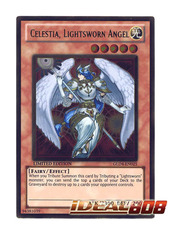 Celestia, Lightsworn Angel - Gold Rare - GLD4-EN025 on Ideal808