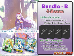Weiss Schwarz SAOII Bundle (B) - Get x4 Sword Art Online II Vol.2 Extra Booster Boxes + FREE Bonus Items * PRE Ships May.27