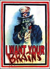 I Want Your Brains Small Sleeves (50ct) on Ideal808