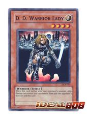 D.D. Warrior Lady - DCR-027 - Super Rare - 1st Edition