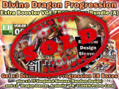 Cardfight Vanguard EB09 Bundle (A) - Get x3 Divine Dragon Progression Extra Booster Box + CfV Sleeves & More on Ideal808