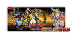 Gold Series 4 Playmat - Yugi with Dark Magician & Dark Magician Girl - SPECIAL Sale Price! on Ideal808