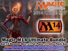 Magic M14 Core Set 2014 Ultimate Bundle - Get x3 M14 Booster Box, x1 M14 Fat Pack, ALL 5 M14 Intro Packs + Bonus * Pre-7/19 on Ideal808