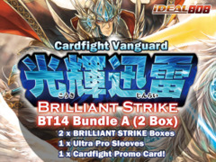 Cardfight Vanguard BT14 Bundle (A) - Get x2 Brilliant Strike Booster Box + FREE Bonus (Sleeves) on Ideal808