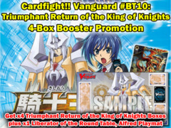 Cardfight Vanguard BT10 Playmat Promo - Get x4 Triumphant Return of the King of Knights Booster Box +BT10 Playmat on Ideal808