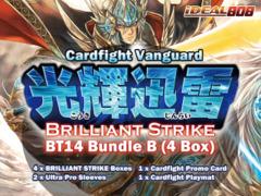 Cardfight Vanguard BT14 Bundle (B) - Get x4 Brilliant Strike Booster Box + FREE Bonus (Sleeves & Playmat)