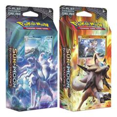 SM Sun & Moon - Burning Shadows (SM03) Pokemon Theme Deck Set - Lycanroc & Alolan Ninetales