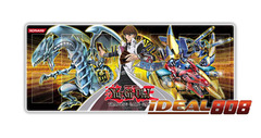 Gold Series 4 Playmat - Kaiba with Blue-Eyes White Dragon & XYZ-Dragon Cannon - SPECIAL Sale Price! on Ideal808