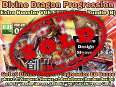 Cardfight Vanguard EB09 Bundle (B) - Get x6 Divine Dragon Progression Extra Booster Box + CfV Sleeves & More