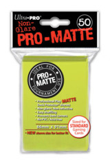 Ultra Pro Matte Non-Glare Large Sleeves 50ct. - Bright Yellow (#84149)