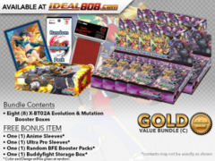 FC-Buddyfight X-BT02A Bundle (C) Gold - Get x8 Evolution & Mutation Booster Box + FREE Bonus Items * PRE-ORDER Ships Aug.25