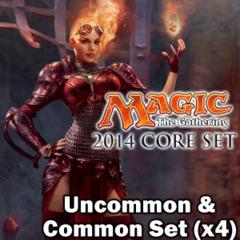 Magic 2014 (M14) Core Set Complete Set Commons/Uncommons x4