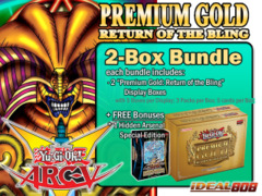 Yugioh PGD2 Bundle (A) - Get x2 Premium Gold: Return of the Bling Display Boxes plus Free Gift