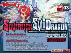 Cardfight Vanguard G-BT03 Bundle (C) - Get x8 Sovereign Star Dragon Booster Box + FREE Bonus + Bundle Treasure