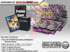 FC-Buddyfight X-BT02A Bundle (B) Silver - Get x4 Evolution & Mutation Booster Box + FREE Bonus Items * PRE-ORDER Ships Aug.25
