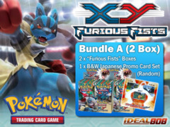 Pokemon XY03 Bundle (A) - Get x2 XY Furious Fists Booster Box + FREE Bonus (Promo Cards) ** Ships August 16, 2014 on Ideal808