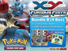 Pokemon XY03 Bundle (B) - Get x4 XY Furious Fists Booster Box + FREE Bonus (Album & Promos) ** Ships August 16, 2014 on Ideal808