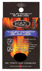 Tournament Black Sleeves Large (100ct) on Ideal808