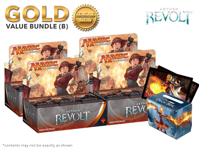 MTGAER Bundle (B) Gold - Get x4 Aether Revolt Booster Box + FREE Bonus Items
