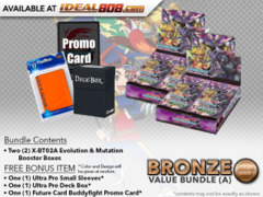FC-Buddyfight X-BT02A Bundle (A) Bronze - Get x2 Evolution & Mutation Booster Box + FREE Bonus Items * PRE-ORDER Ships Aug.25