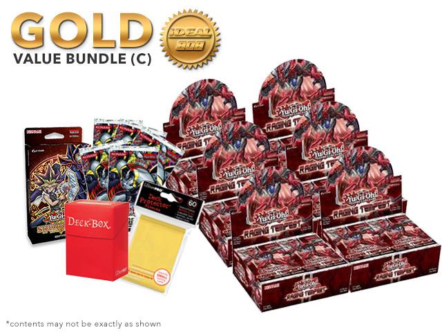 Yugioh Raging Tempest Bundle (C) Gold - Get x6 Booster Boxes + Bonus Items (See Description)
