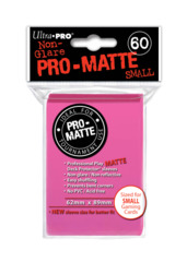 Ultra Pro Matte Non-Glare Small Sleeves 60ct - Bright Pink (#84148)
