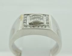 Statement Diamond Ring, Set in 14k White Gold