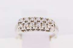 Prong-set Diamond Ring, Set in 14k White Gold