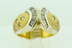 Fashion Diamond Ring, Set in 14k Two Tone Gold