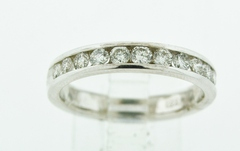 Diamond Channel-set Band, Set in 14k White Gold